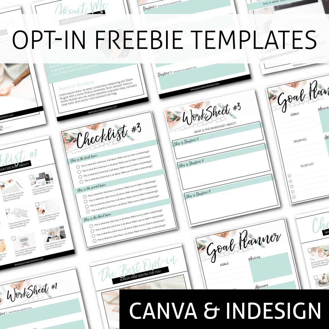 Opt In Freebie Templates Pack