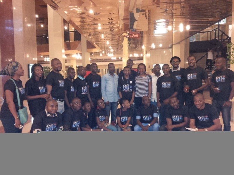 The Earth Hour team at Transcorp Hilton Abuja