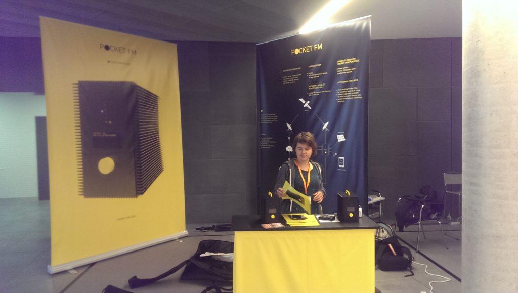 Pocket FM Radio was on the side stands. Visit them at http://www.pocket-fm.com/