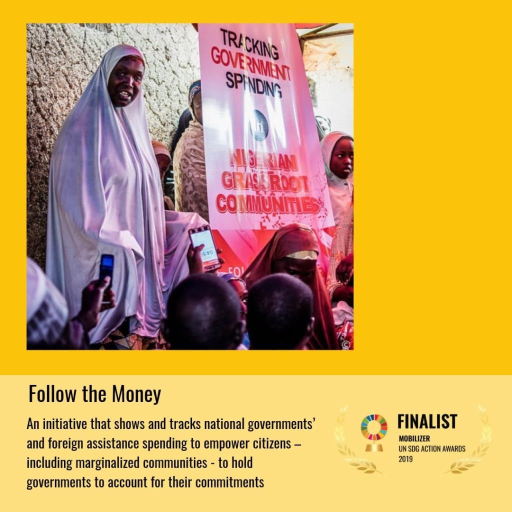 Follow The Money Makes Top 3 in Mobilizer Category of 2019 United Nations SDG Action Awards!
