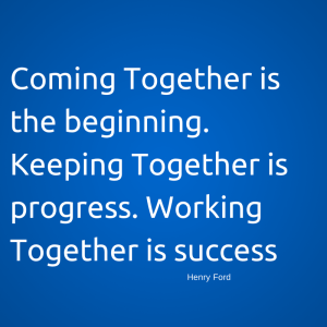 Coming Together is the beginning.