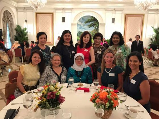 Athena Network with Singapore President Hamilah Yacob