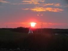 Sonnenuntergang auf Middelplaat