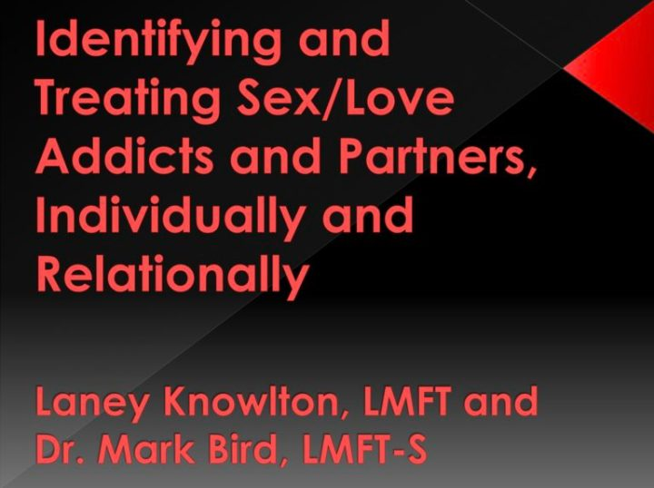 Identifying and Treating Sex/Love Addicts and Partners, Individually and Relationally
