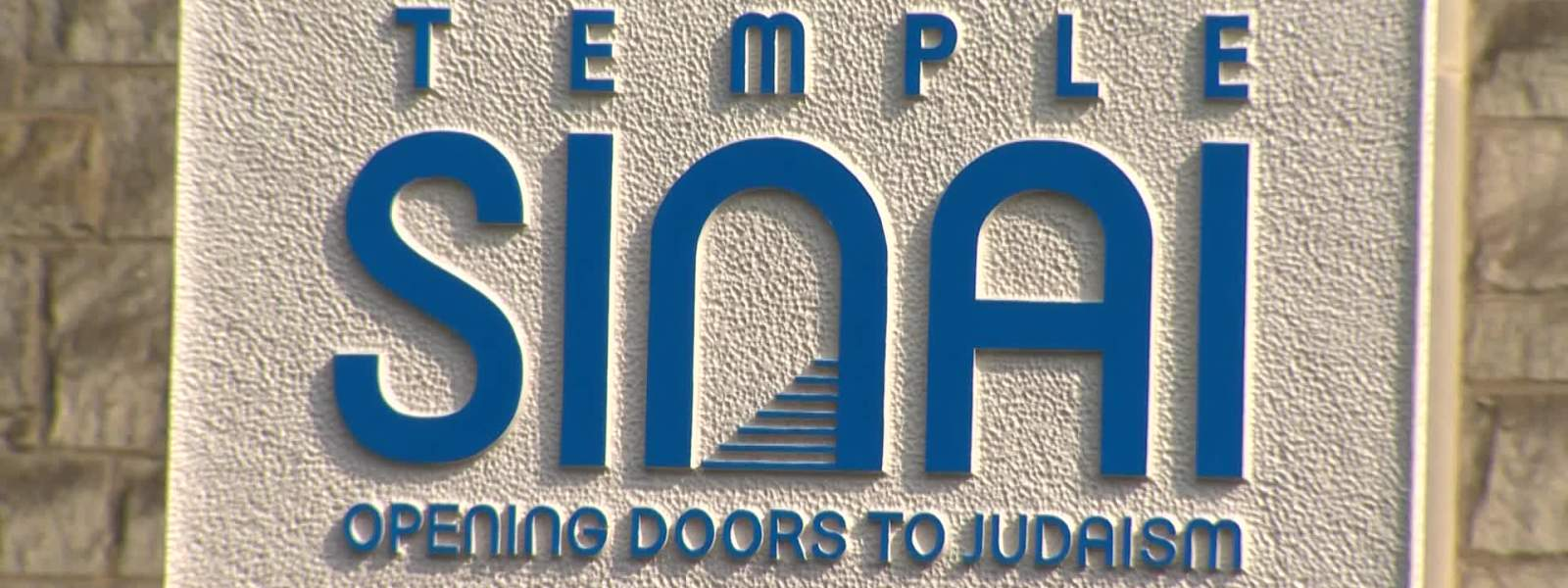 Temple Sinai sign