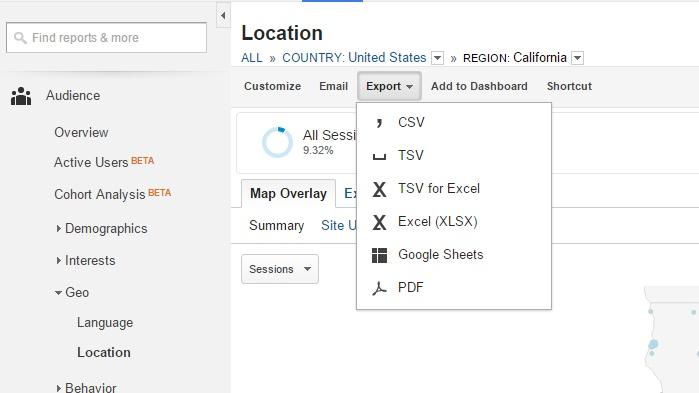 6Google Local Analytics Reporting Tab Export