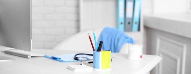 Medical Desk with pens