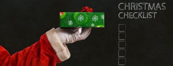 Santa Holding Gift