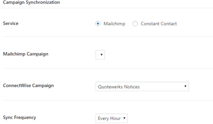 Mailchimp synchronization to ConnectWise