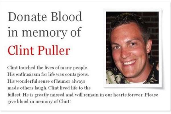 Clint Puller Blood Drive