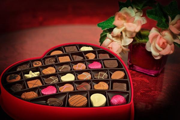 Valentine's Day heart chocolate