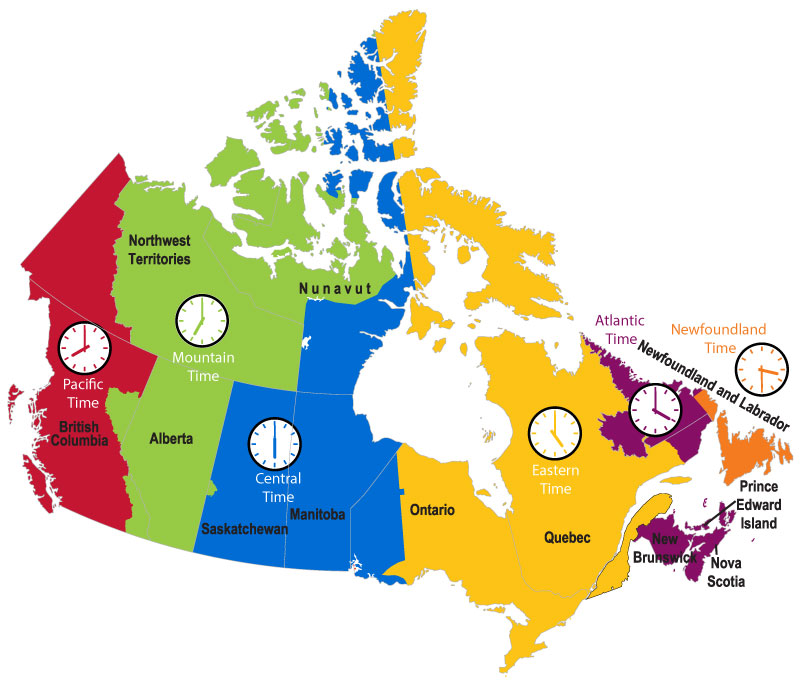 Ontario Canada Time Zone Map.Ontario Canada Time Zone Map