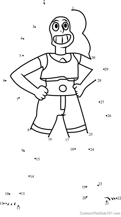 Stevonnie Dot To Dot Printable Worksheet
