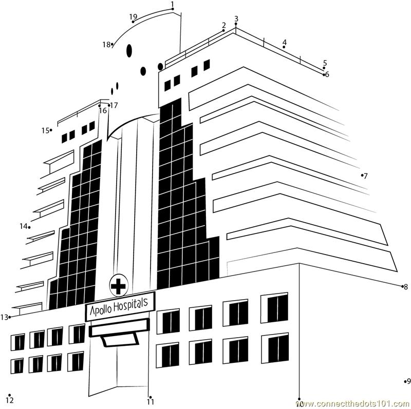 Apollo Hospitals Dot To Dot Printable Worksheet