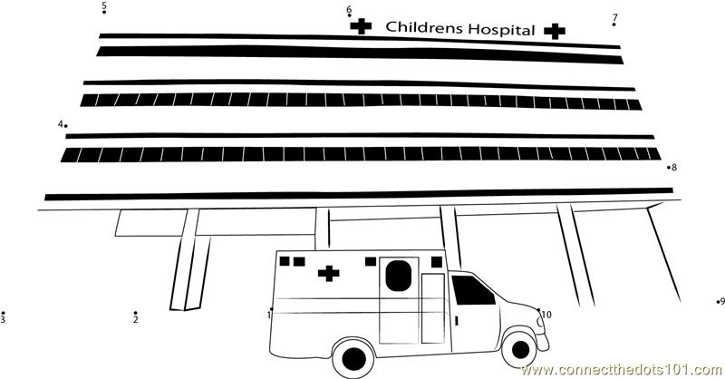 Childrens Hospital Dot To Dot Printable Worksheet