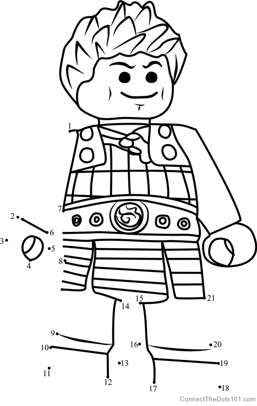 Ash Ninjago Dot To Dot Printable Worksheet Connect The Dots