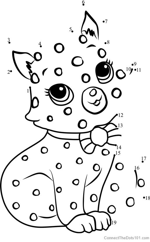 Custard The Cat Dot To Dot Printable Worksheet