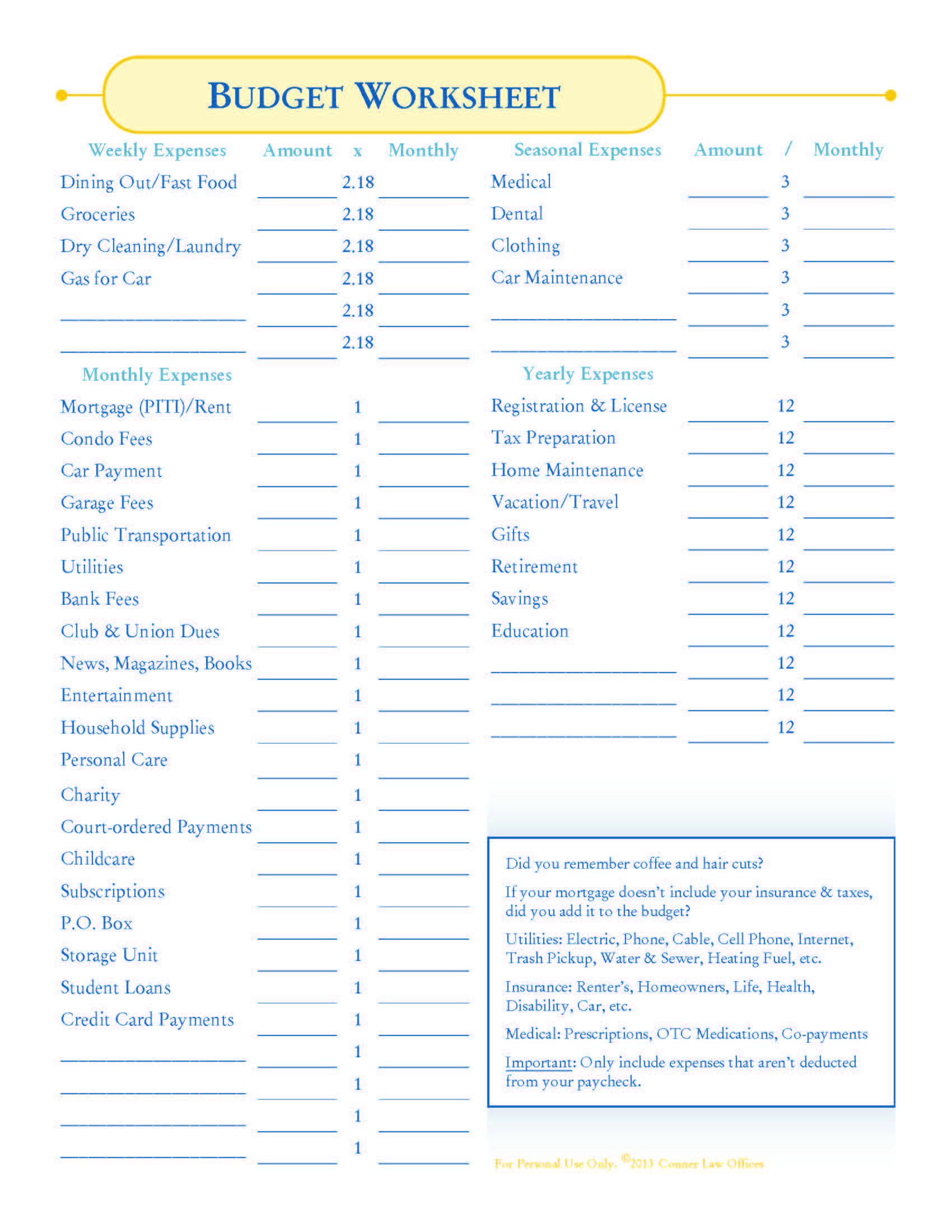 Search Results For Free Budget Worksheet Page 2