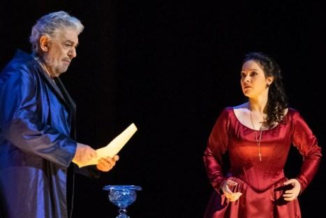 Eleonora Buratto con Placido Domingo in Simon Boccanegra, Wiener Staatsoper