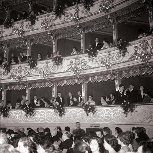 Il Regio di Parma in uno scatto del 1960