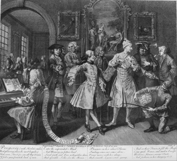 William Hogarth, A Rake's Progress, The Levée