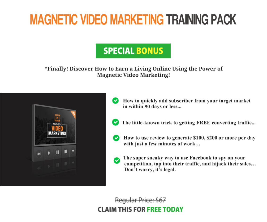 Magnetic Video Marketing Upgrade
