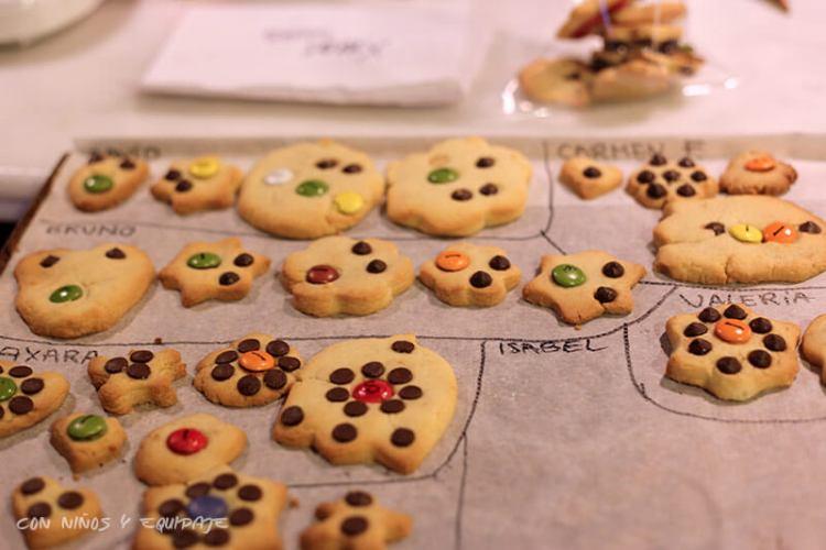 taller de galletas en cumpleaños en Mandarina Garden