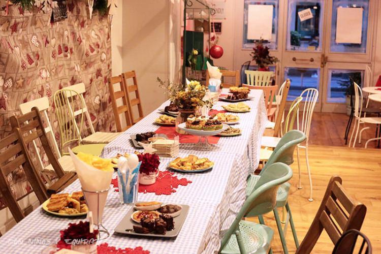 merienda para padres en cumpleaños en Mandarina Garden