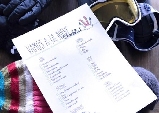 checklist para ir a esquiar