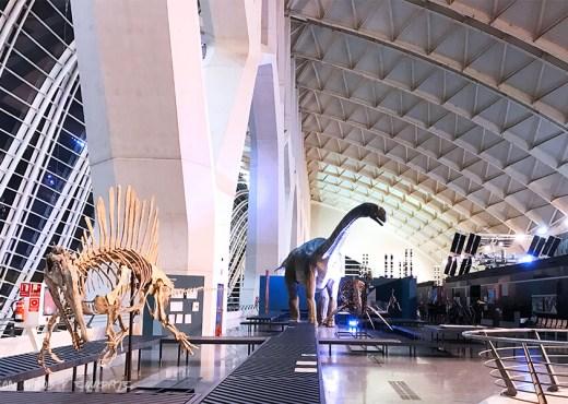 Exposición de dinosaurios