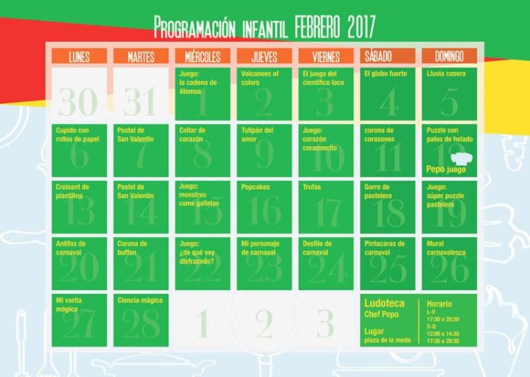 programación de los talleres de la ludoteca Chef Pepo en Islazul