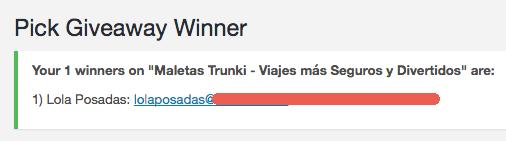 Ganador de la Maleta Trunki