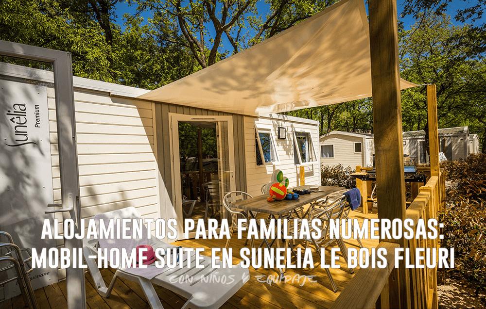 Alojamientos para Familias Numerosas - Mobil-Home Suite en Sunelia Le Bois Fleuri