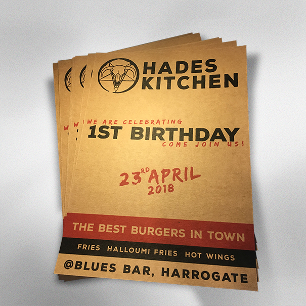 Hades Kitchen 1st Birthday Posters