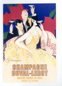 Champagne poster Mauzan
