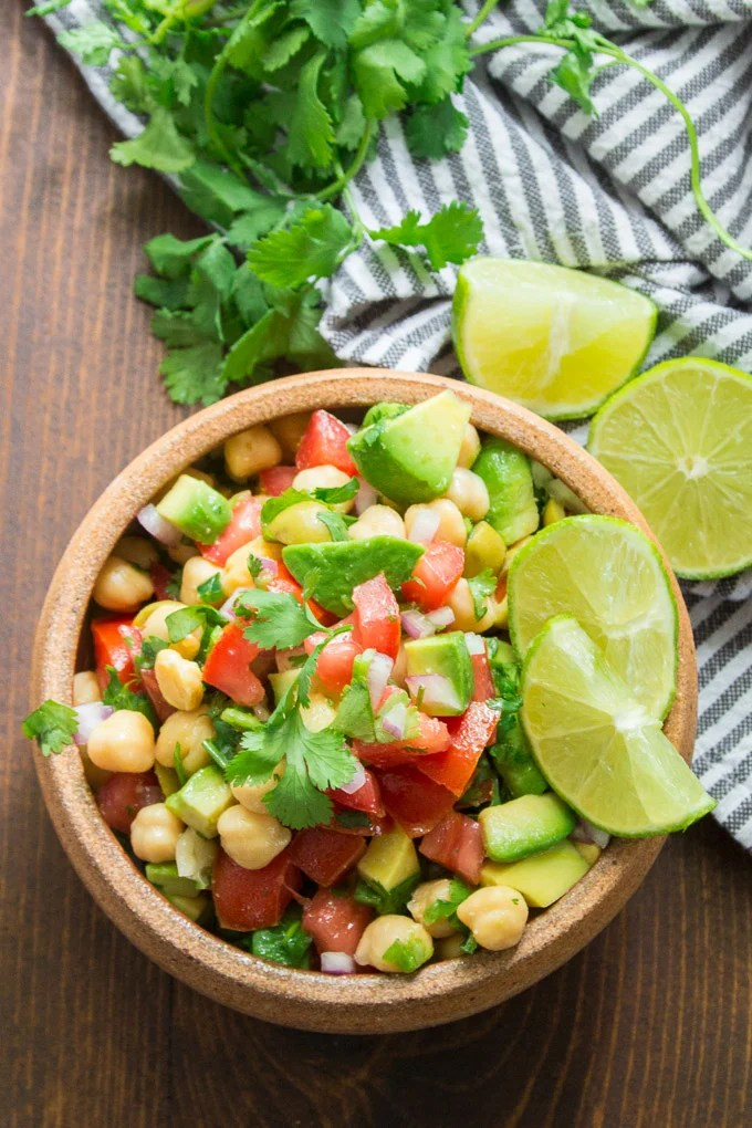 Stone Bowl Filled with Vegan Ceviche