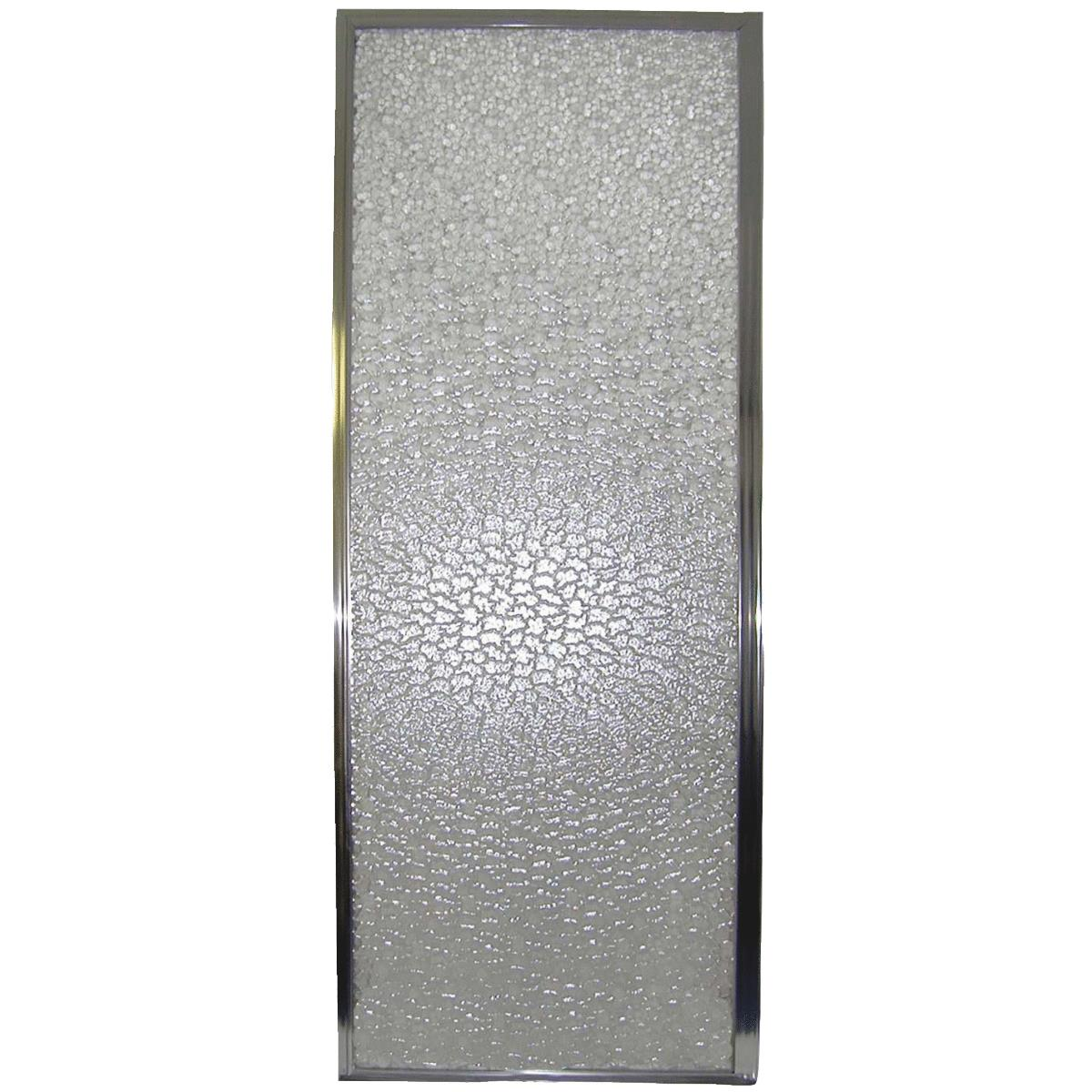 Mustee Durastall 28 In W X 64 In H Chrome Opaque Glass