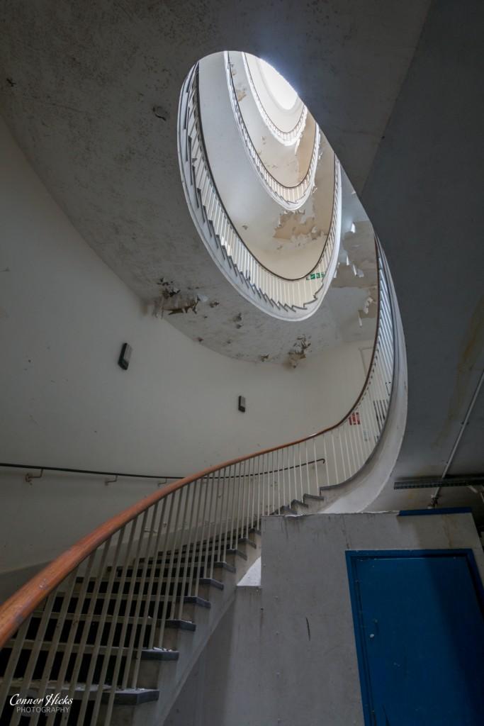 Haslar Urbex Staircase 683x1024 The Royal Hospital Haslar, Gosport