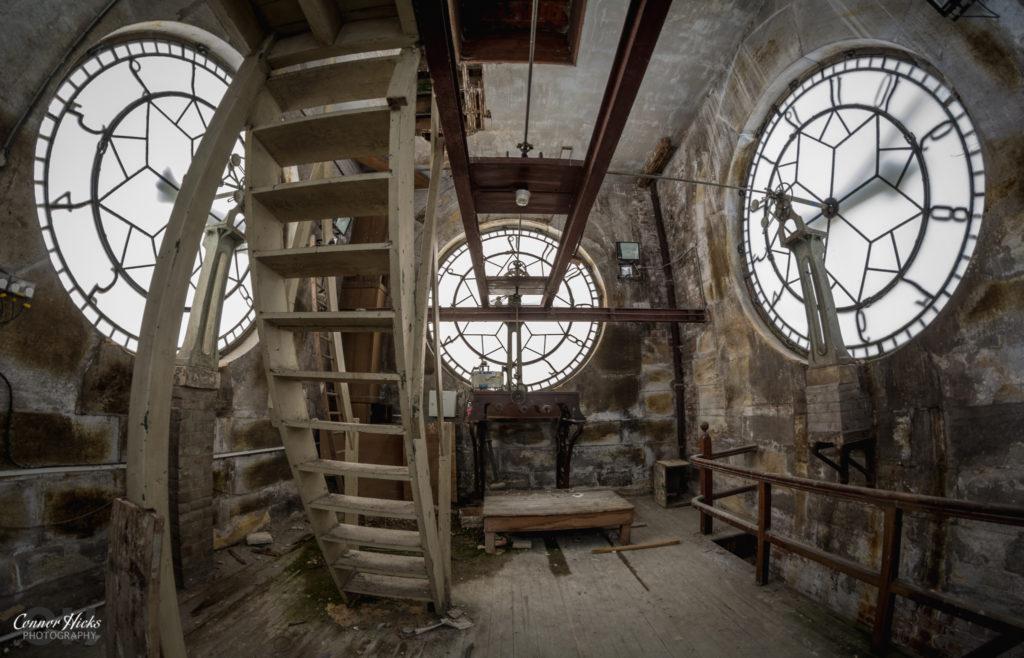 High Royds Inside Clock Tower Clock Works 1024x658 High Royds Asylum, Leeds