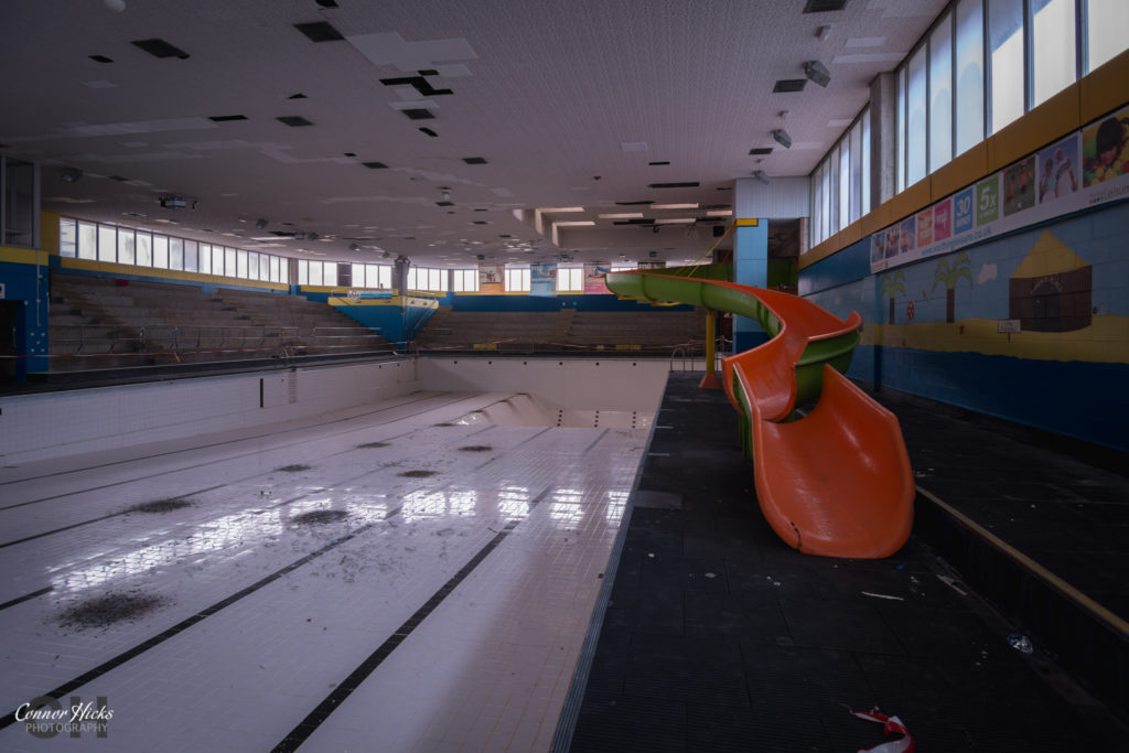 Aquarena Worthing Urbex Slide 1024x683 Aquarena, Worthing