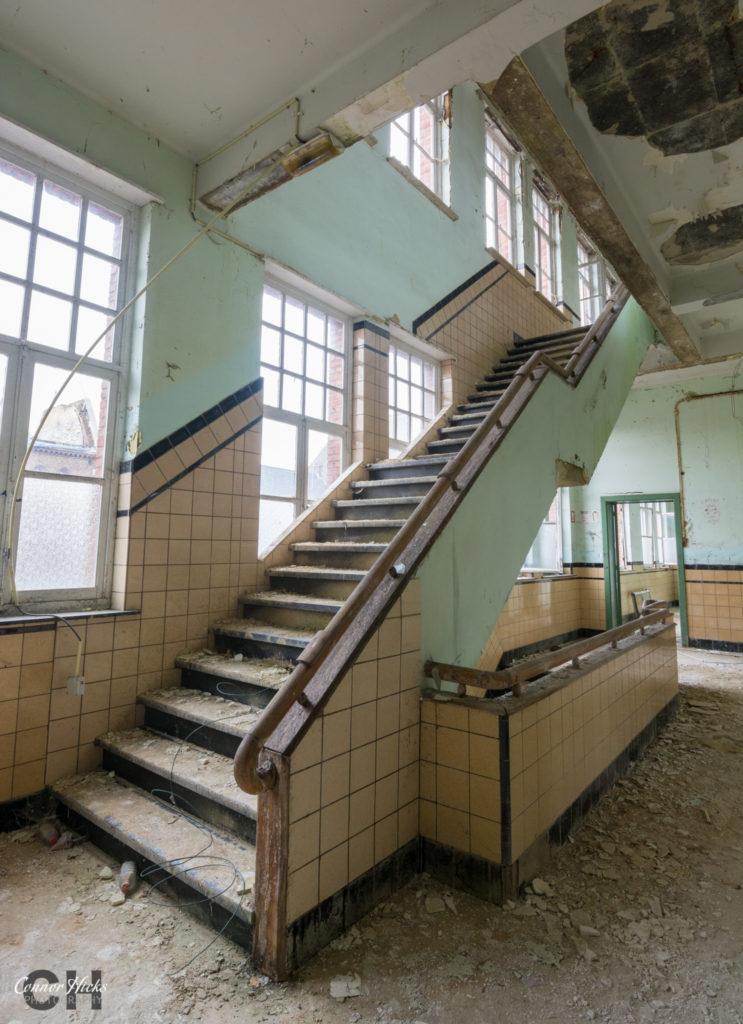 The Green School Urbex Belgium Stairs 743x1024 The Green School, Belgium