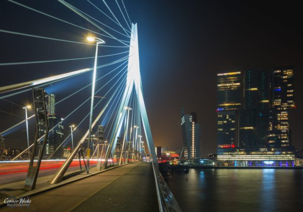 Erasmusbrug rotterdam night photography 1024x716 Travel