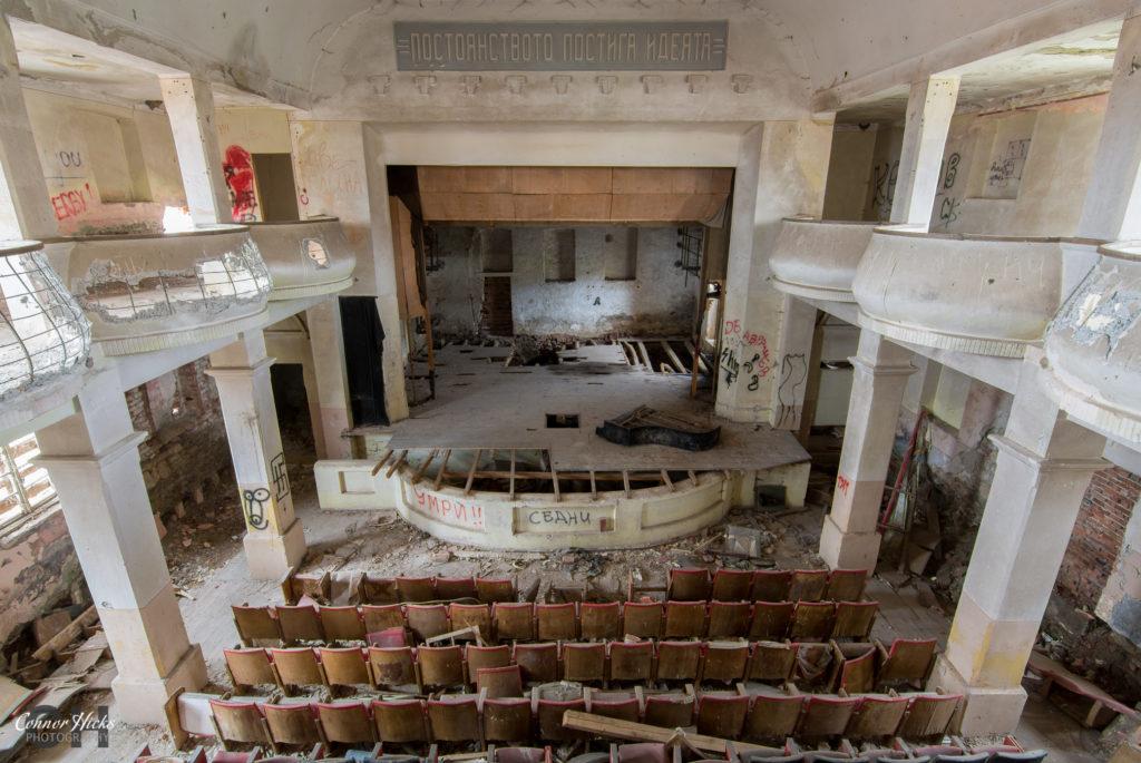 urbex bulgaria soviet 1024x685 Soviet Theatre, Bulgaria