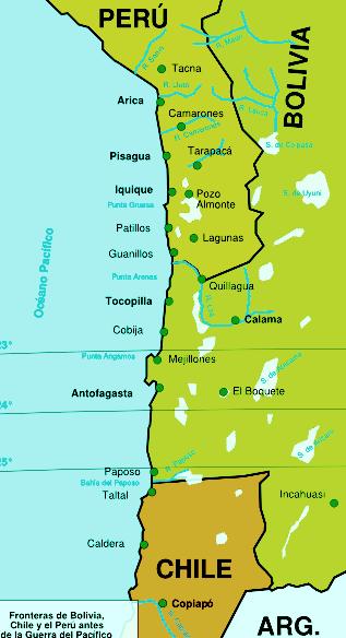 frontera peru bolivia chile 1879