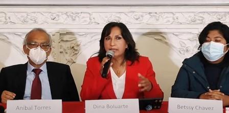 """Dina Boluarte denuncia a """"banda delincuencial"""" de Keiko Fujimori que busca  golpe de Estado"""