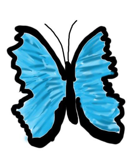 Schmetterling gemalt