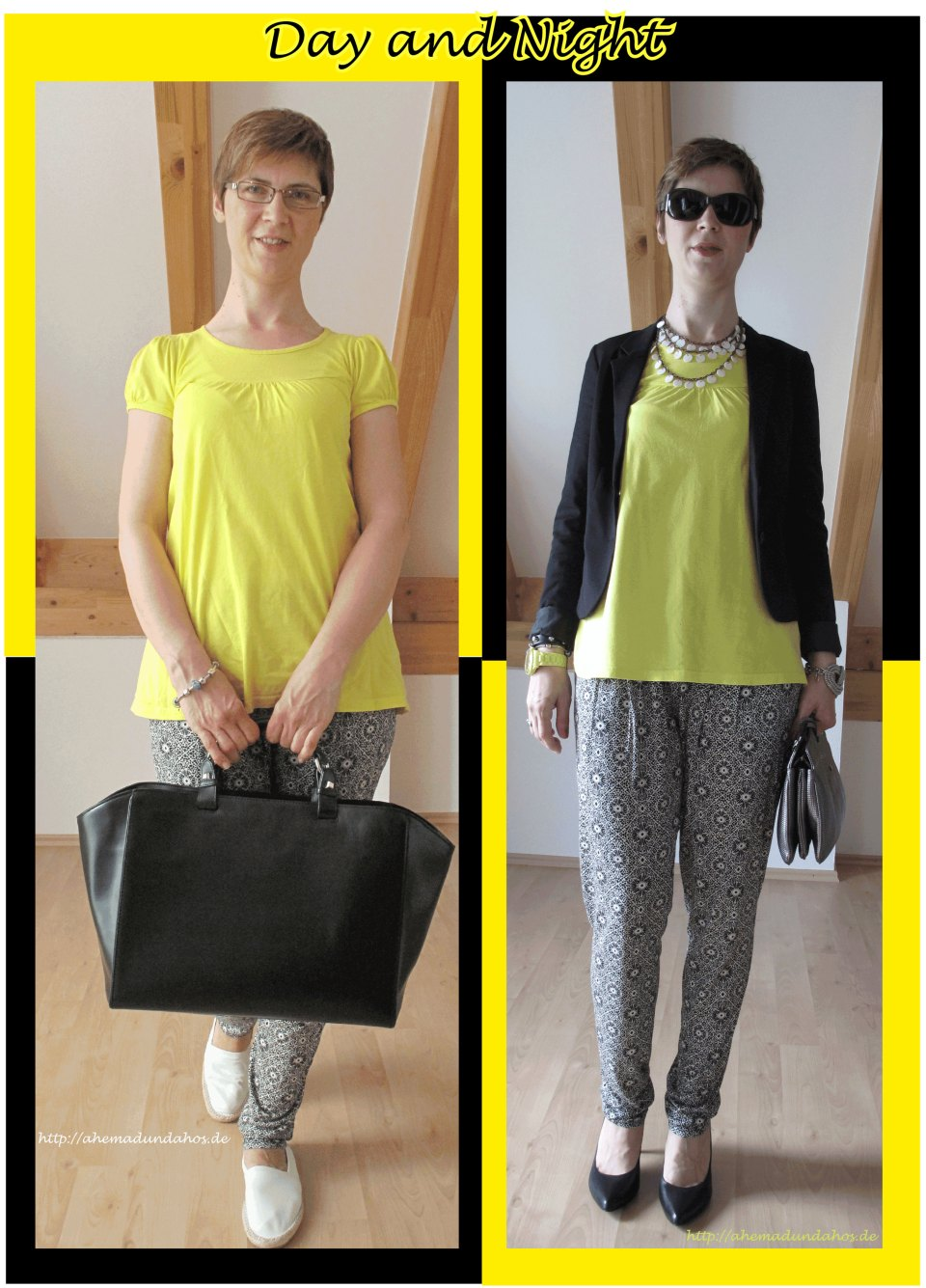 Day and Night with yellow