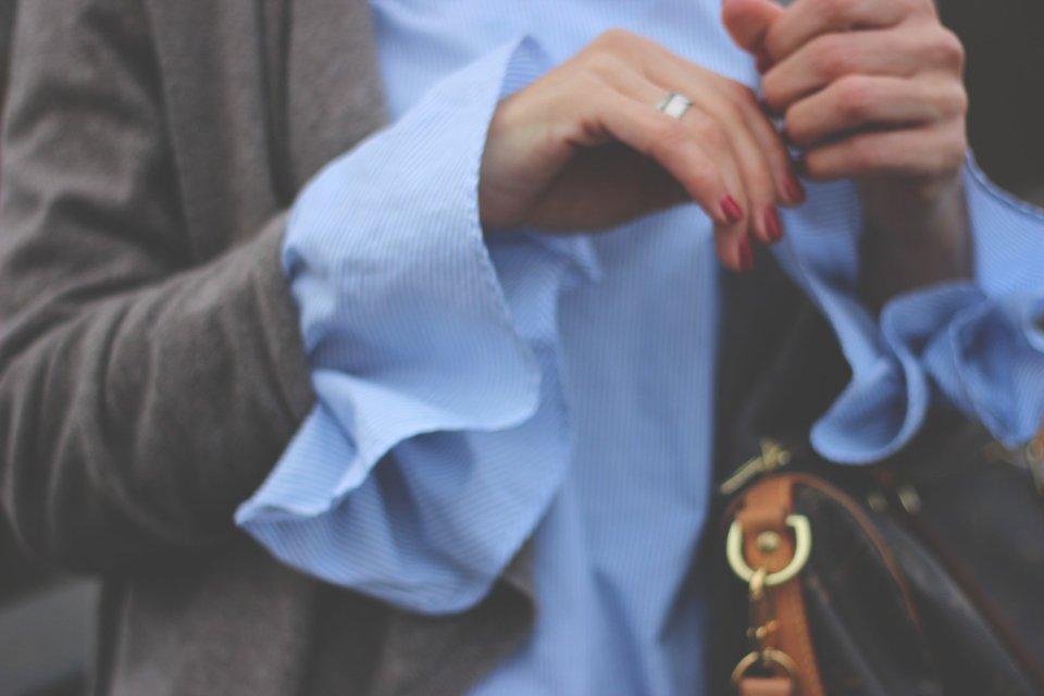 Cardigan, Trompetenärmelbluse, Zara, Tchibo, Morandum, Ketten, Only Jeans, Kennel&Schmenger, Booties, Grau, Blau, Parka, Pepe Jeans