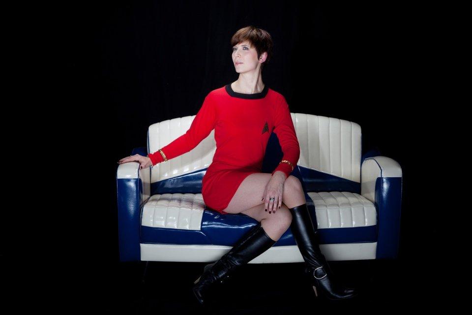 Star Trek, Enterprise, lange Ärmel, kurzes Kleid, Lieutenant Uhura