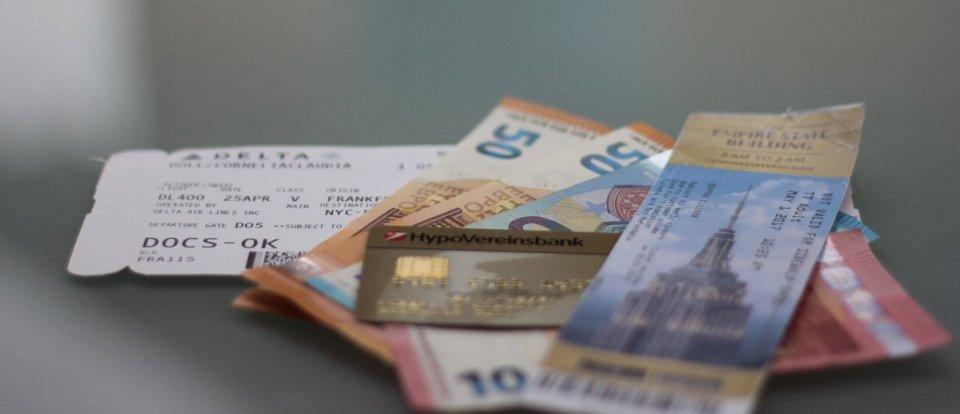 HVB Eklusivkonto, Mastercard gold, Geld, Schein, Boardingpass, ESB NYC
